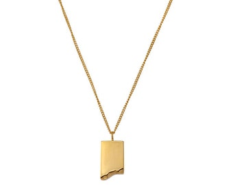 Minimalist necklace  - Gold necklace - Gifts for mom - Pendant necklace - Geometric necklace - Girlfriend gift - Layering necklace