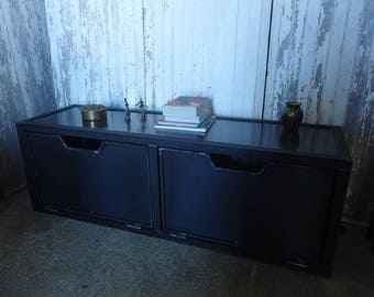 Cabinet wood and steel industrial style tv