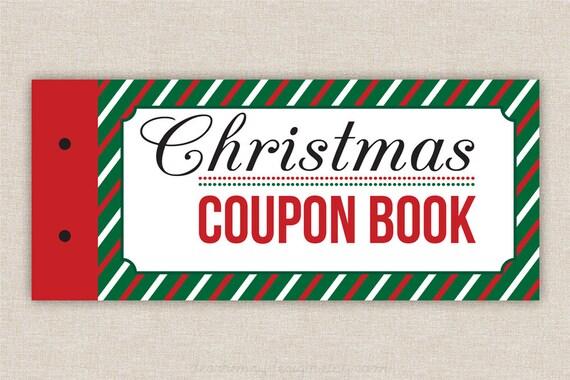 Editable PDF Blank Christmas Coupon Book Love Coupons Last
