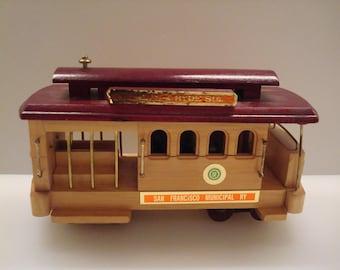 Vintage Wooden Trolley-Car Music Box - The San Francisco Music Box Co. - Fun!!