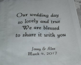 50 Wedding Favor Bags/Sweet Treats Wedding Favor Bags/Shower Bags/Bags/Bridal Shower Favor Bags/Our Wedding Day
