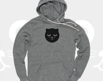Sleepy Unisex Hoodie Watson the Cat, Sweatshirt, Red, Cat Shirt, Crazy Cat Lady, Kitty, Cat Sweatshirt, Pullover Hoodie for Women and men