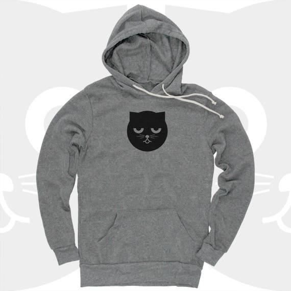 Cat, Hoodie, Mens Hoodie, Womens Hoodie, Cat Shirt, Sweatshirt, Pullover Hoodie, Gift for Cat Lover, Ninja Kitty, Cat, Kung Fu