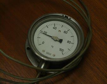 vintage steam punk temperature gauge