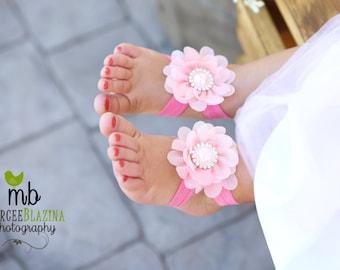 Baby, Baby girl, baby shower, gift, baby headband  ~ Baby Sandals, Baby girl Sandals, baby girl clothes, newborn headband, Barefoot Sandals