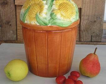Compost Crock Homestead Kitchen- Sunflowers