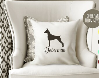 Personalized Doberman Pillow Cover