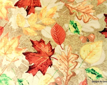 """One Yard Cut Quilt Fabric, Light & Bright Fall Leaves, Autumn""""Farmers Market"""" by Shawn Jenkins for SPX, Sewing-Quilting-Craft Supplies"""