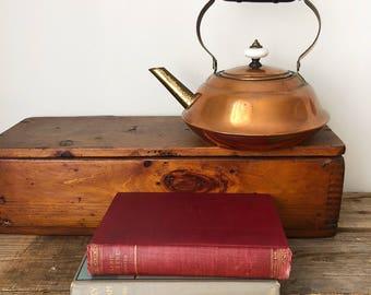 1970s Vintage Coppercraft Guild Copper + Brass Tea Kettle Teapot