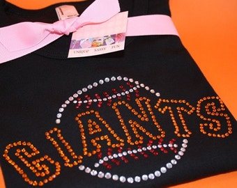 GIANTS short sleeve rhinestud tee - for kids - by Daisy Creek Designs