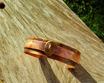 Antique Oval Copper Cuff