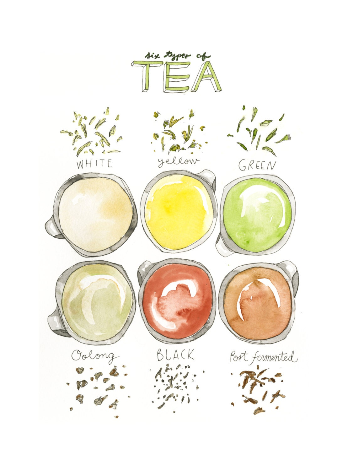 6 Different Types Of Artificial Nails You Can Try: Six Types Of Tea: White Yellow Green Oolong Black And Post