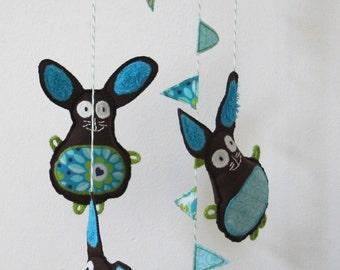 Mobile Bunny - baby mobile nursery decoration - bunny