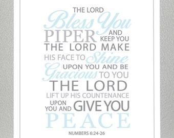 Baptism gift - Numbers 6:24-26  - Print