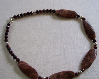 Chocolate Brown Jasper Gemstone Choker Necklace by Carol Wilson of Je t'Adorn