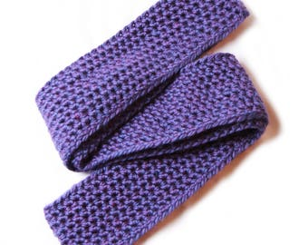 Soft, Cozy, Purple and Blue Infinity Scarf
