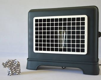 Design lamp from old radiator brand vintage Furniculus of 60s/70s through upcycling