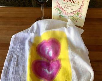 Queen of Hearts Dish Towel
