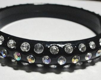 Vintage Bakelite Rhinestone Bracelet for larger hand