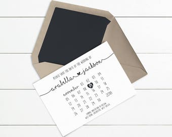 Save the Date // Sample Only // Wedding Save the Dates // Printed or Printable // Design Code: STD-016