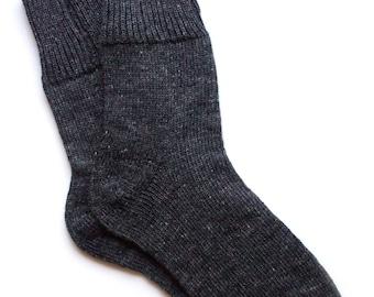 Men's knitted lambswool Socks/winter socks/woolen socks/gray/black/melange