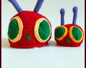 The Very Hungry Caterpillar Hat, Baby Hat, Crochet Hat,