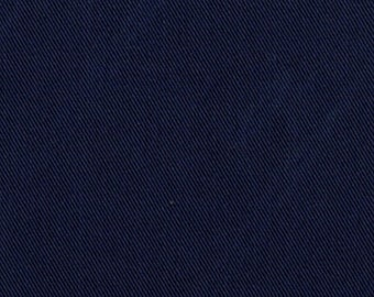 Recycled Water Bottle ORGANIC Cotton Blend Eco Twill Fabric Navy Blue MULTIPURPOSE