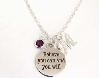 Personalized Believe You Can Necklace