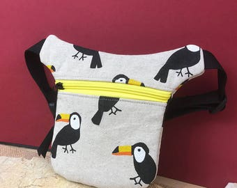 Hip bag child, belt bag, hip bag, toucan