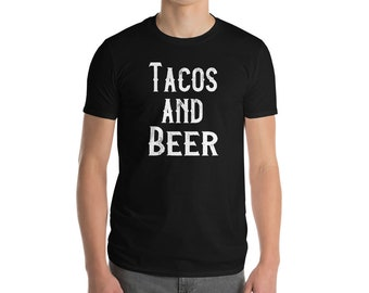 Tacos and Beer T Shirt For Men Women Taco Tuesday Night Beer Lover Fathers Day TShirt Funny Sports Bar Graphic Tee