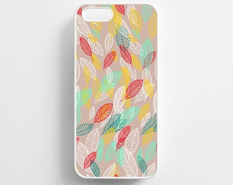 Falling Leaf Pattern iPhone 4/4s, iPhone 5/5s, iPhone SE, iPhone 6, iPhone 6 Plus Case Cover 077