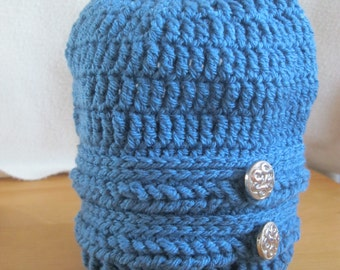 Handmade Slouch Hat. Braided Design.
