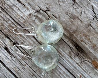 Bubble glass earrings-Blown glass earrings-Murano glass earrings-Dangle earrings-orecchini vetro-Ohhringen-gift