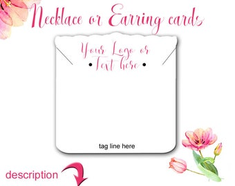 Jewelry Display Cards, Display Cards, necklace Cards, Earring Holders, Earring Cards, Multiple Sizes