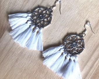 White Bohemian earrings