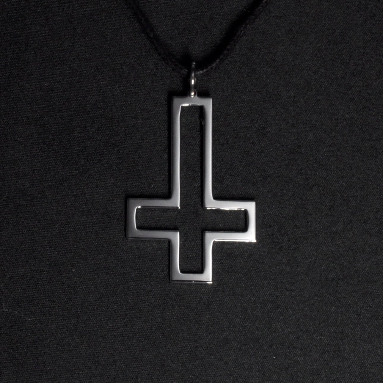 Upside down cross pendant necklace satanic cross inverted zoom buycottarizona