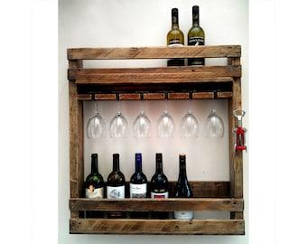 Handcrafted Reclaimed Wood Wine Rack, handmade wedding gifts
