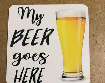 Beer coaster/beer gift/beer lover/beer drinker/beer lover gift/coaster for beer/funny beer coaster/dad beer gift