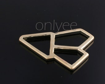 1pcs-46mmX35mm 14K Gold plated over Brass Geometric shapes connector, charm(K289G)