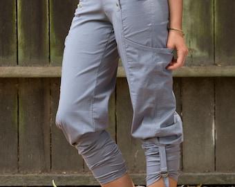 Organic Cotton Pants, Capri Pants, Short Pants, big pockets, Stretch Pants, Low Rise Pants, Fitted Pants