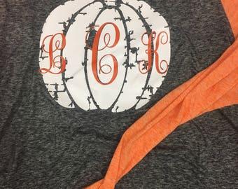 Monogram Pumpkin Tee Regular Print-Multiple Shirt Options