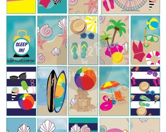 Classic Summer Fun Full Box Printable Sticker Kit for Classic HP Layout