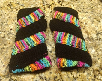 Knitted Double Helix Mitts Fingerless Gloves