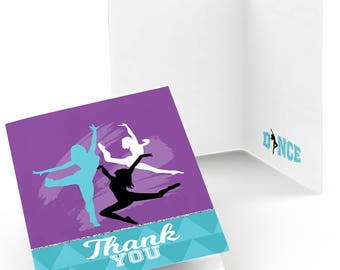 Must Dance to the Beat - Dance - Thank You Cards - Dance Party Thank You Cards - Birthday Thank You's - Dance - 8 Folding Note Cards