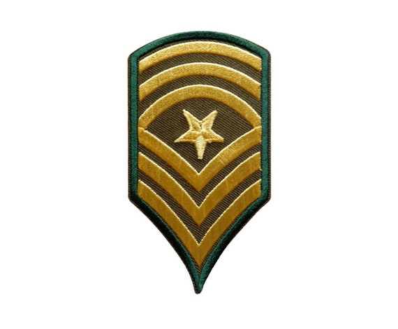 US Army Rank Patches Military Patches Applique Sew Embroidered ec16171574d