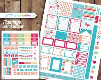 Flamingo Planner stickers Erin Condren Printable Stickers, planner stickers, Flamingo -  382