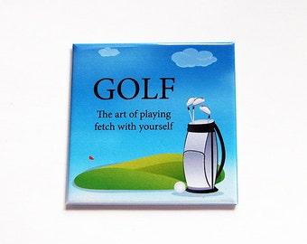 Golf Magnet, Fridge magnet, Kitchen Magnet, Magnet, Stocking Stuffer, Mothers Day, Gift for Golfer, Golf Tournament prize, golfing (6168)