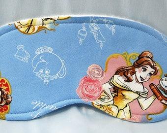 Beauty and the Beast cotton print fabric sleep mask