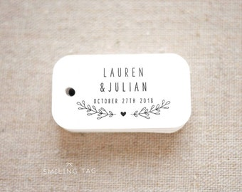 Rustic Botanical Fall Wedding Favor Tags - Personalized Gift Tags - Bridal Shower - Thank you tags - Party Tags - (Item code: J645)