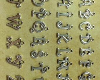 A-Z 1 Piece Script Initial Charm, Alphabetical charm, Letter Charm, Add an Initial charm, Personalized Charm